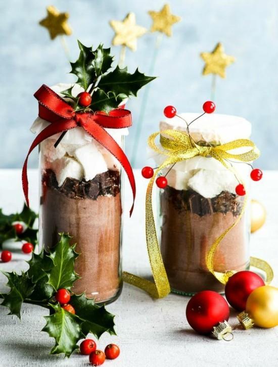 heiße schokolade im glas last minute weihnachtsgeschenke