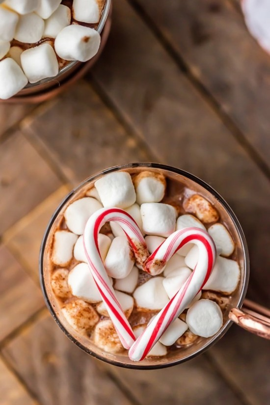 heiße schokolade zuckerstangen deko