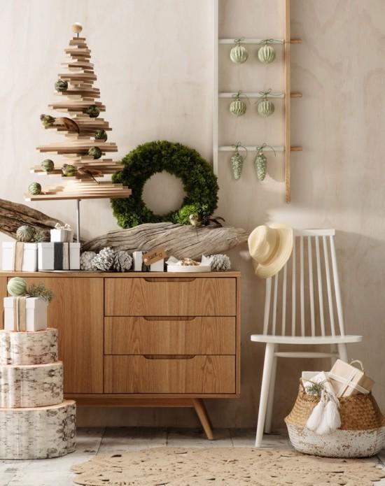 helles holz skandinavische weihnachtsdeko