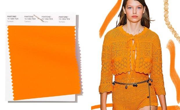 helles orange pantone trendfarbe