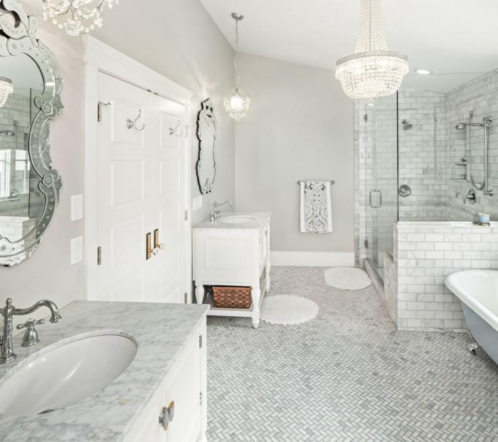 hohes weißes design badezimmer decken