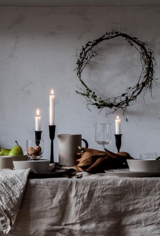 hygge skandinavische weihnachtsdeko tischdeko