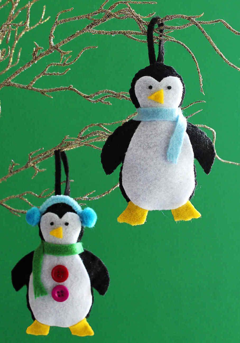 kleine pinguine schmuck basteln