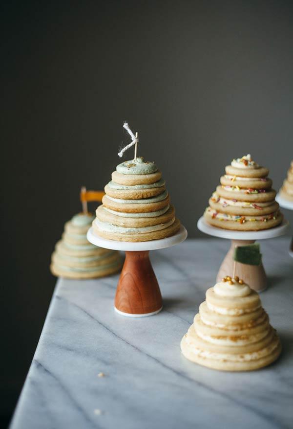 kleine pyramiden tannenbaum basteln