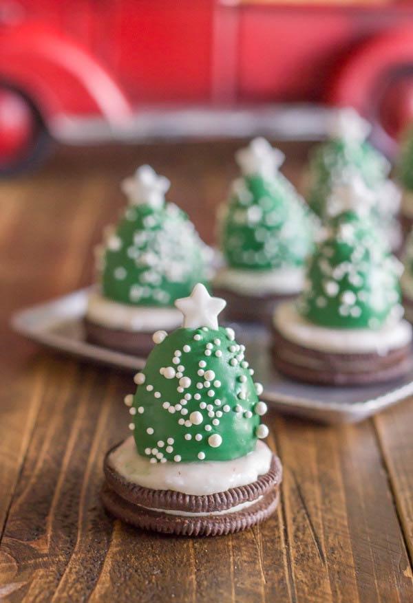 kleine süßigkeiten tannenbaum basteln