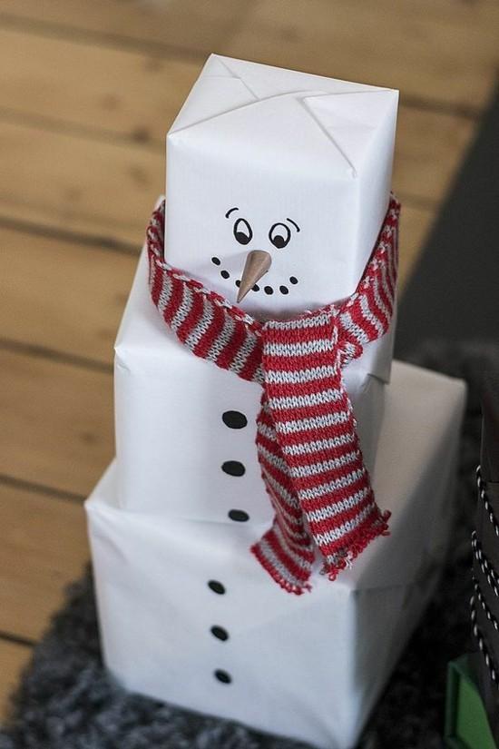 last minute weihnachtsgeschenke packete schneemann