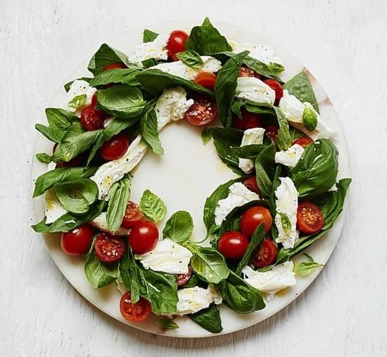 leckeren weihnachtskranz selber machen mit mozzarella