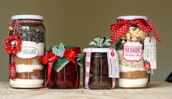 marmeladengläser voller süßigkeiten last minute weihnachtsgeschenke