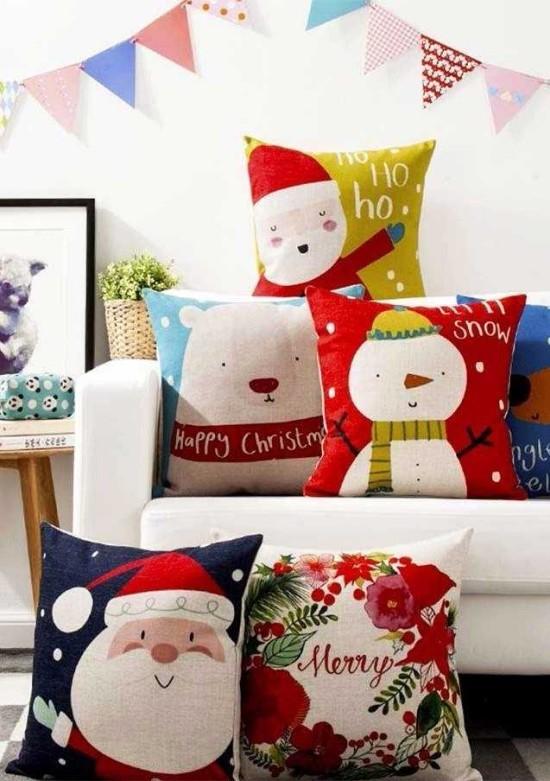 mehrere ideen für weihnachten dekokissen