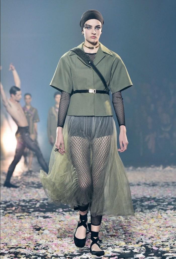 modetrends paris tolle grüns und schwarz