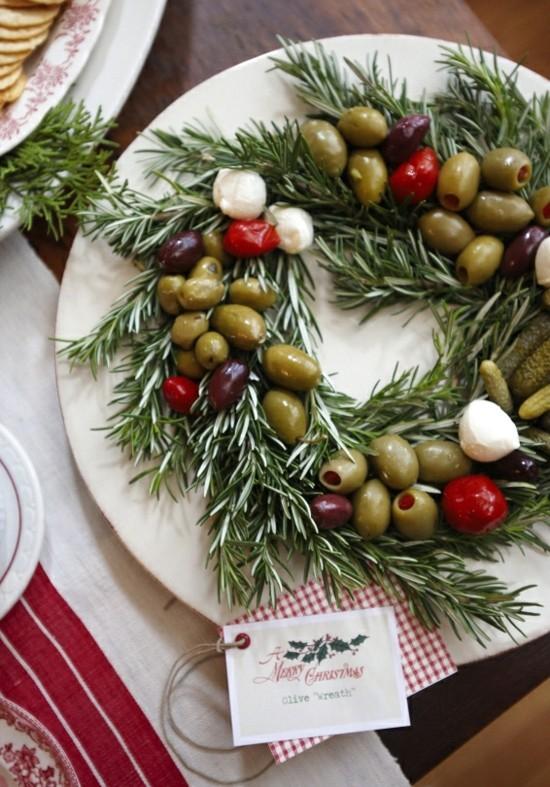 oliven rosmarin weihnachtskranz selber machen