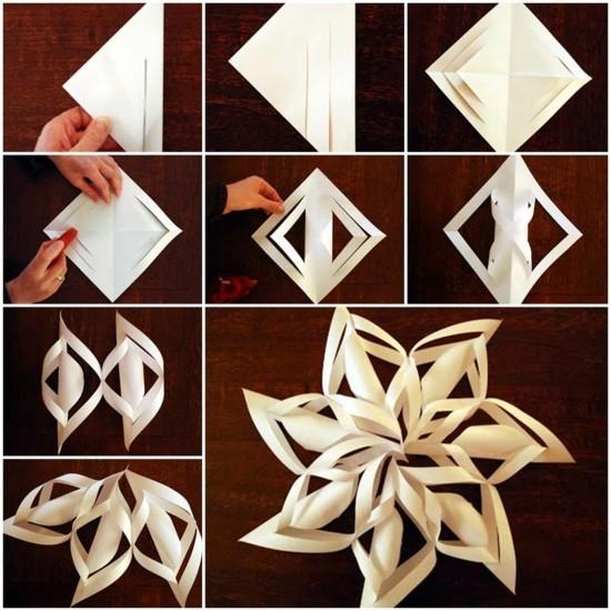 papier schneeflocken basteln anleitung