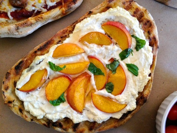 pizzabelag ideen ricotta pfirsich