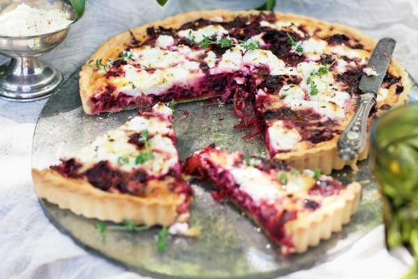 pizzabelag ideen rote bete ziegenkäse