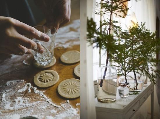plätzchen backen skandinavische weihnachtsdeko