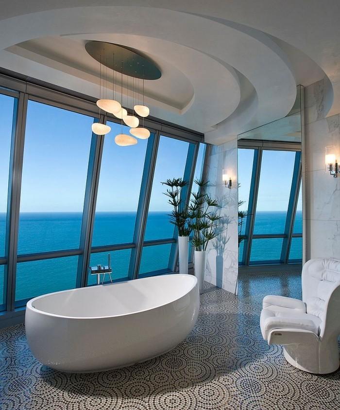 plastische gestaltung badezimmer decken