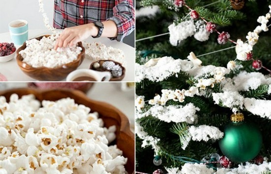 popcorn girlande basteln