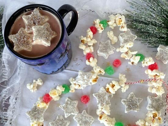 popcorn gummibärchen girlande basteln