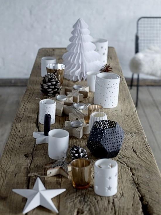 puristische tischdeko skandinavische weihnachtsdeko