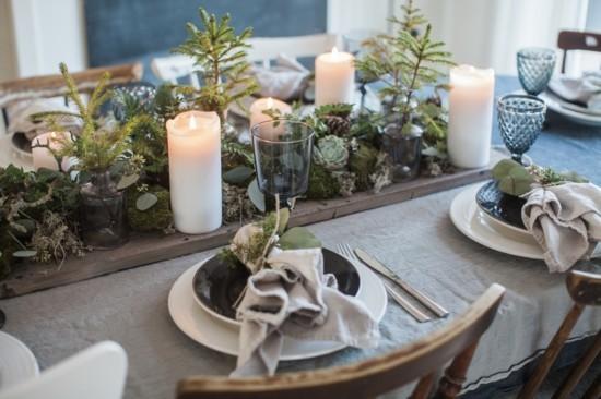puristische tischdekoration skandinavische weihnachtsdeko