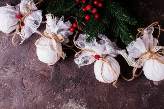 romantische girlande basteln mit spitze