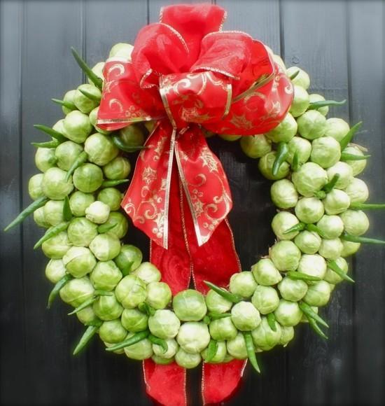 rosenkohl weihnachtskranz selber machen