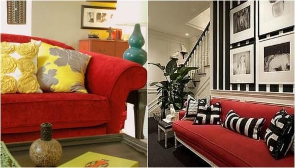 rote wohnlandshaft deko ideen