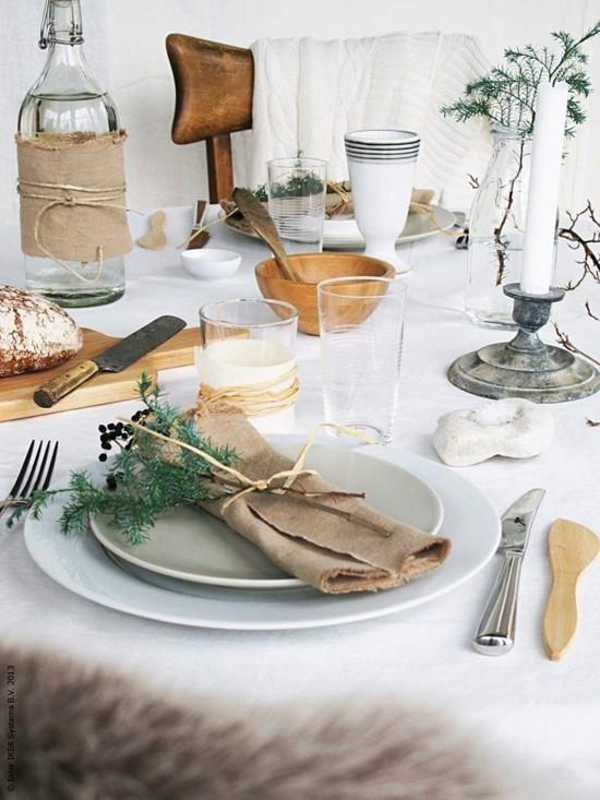 rustikale skandinavische weihnachtsdeko