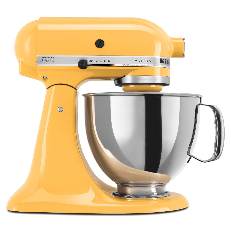 schönes gelb küchenmaschinen