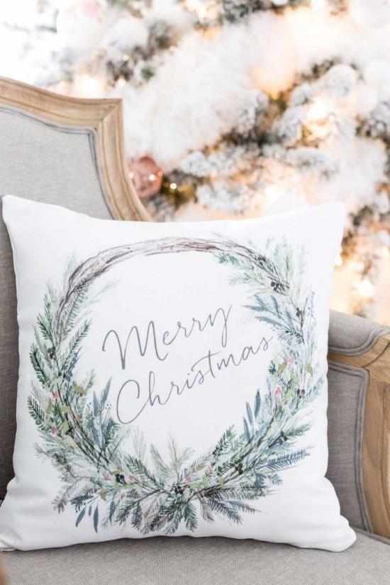 schönes weihnachten dekokissen