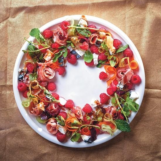 schinken früchte weihnachtskranz selber machen