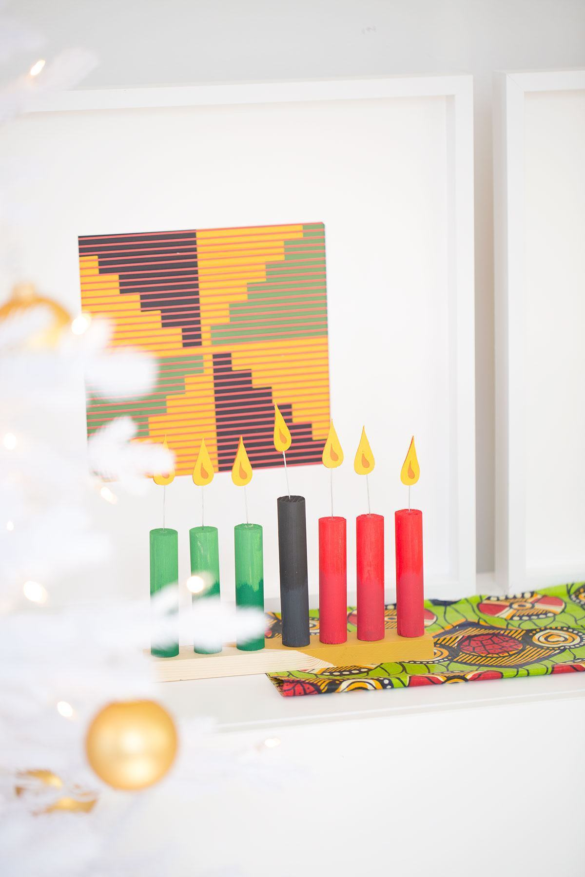 schmuck basteln tolle kerzen und weihnachtskarte