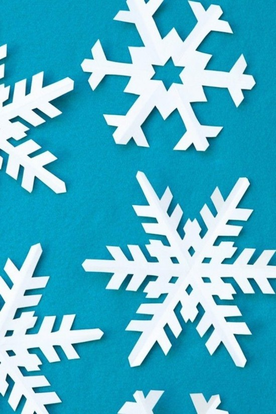 schneeflocken basteln aus papier nach vorlagen