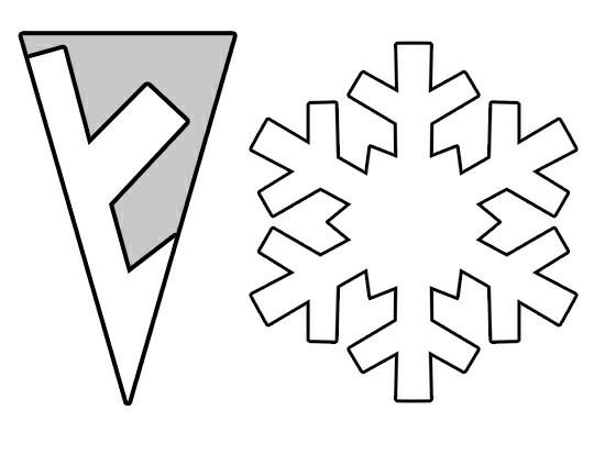 schneeflocken basteln papier vorlage