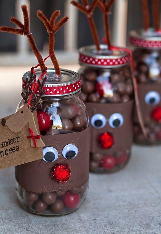 schokolade mit bonbons schmuck basteln