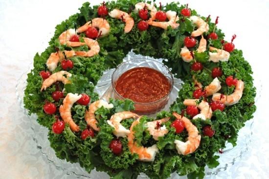 shrimps tomaten weihnachtskranz selber machen