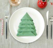 Servietten falten zu Weihnachten – 5 einfache Anleitungen und noch mehr tolle Ideen