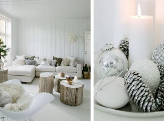 skandinavische weihnachtsdeko christbaumschmuck wohnzimmer