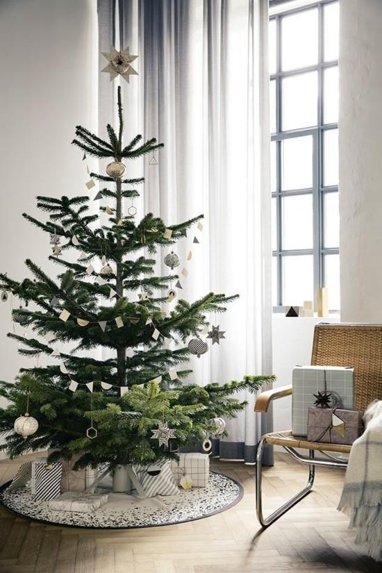 skandinavische weihnachtsdeko ideen christbaumschmuck