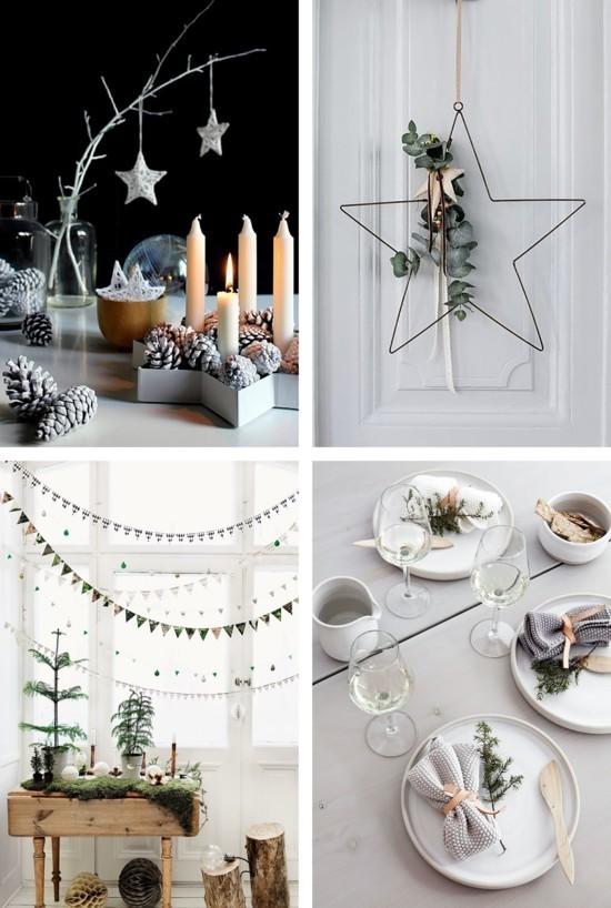 skandinavische weihnachtsdeko nordische tischdeko ideen