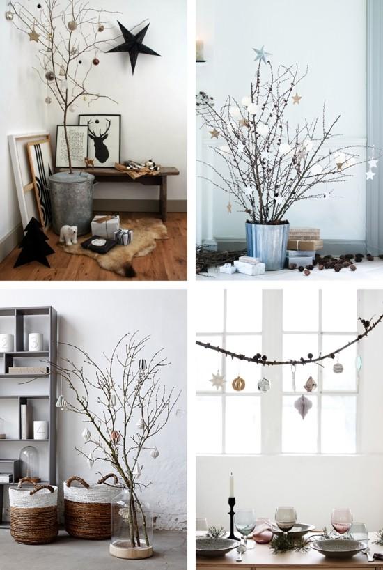skandinavische weihnachtsdeko puristisch
