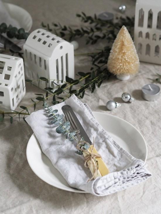 skandinavische weihnachtsdeko puristische tischdeko