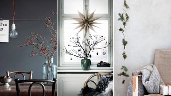 skandinavische weihnachtsdeko schlichte tischdeko