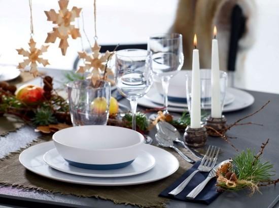skandinavische weihnachtsdeko tischdeko ideen