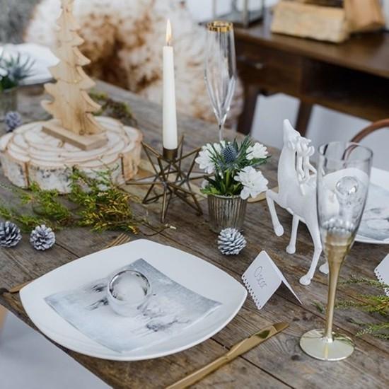 skandinavische weihnachtsdeko tischdeko inspiration