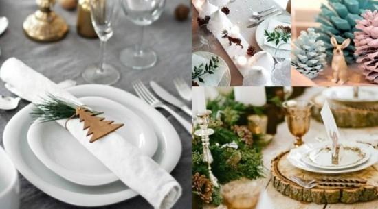 skandinavische weihnachtsdeko tischdekoration ideen