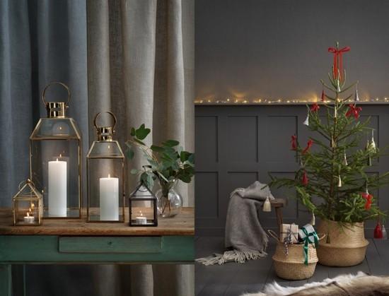 skandinavische weihnachtsdeko vintage