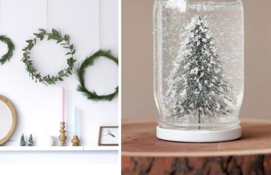 skandinavische weihnachtsdeko wanddeko tannengrün eukalyptusblätter