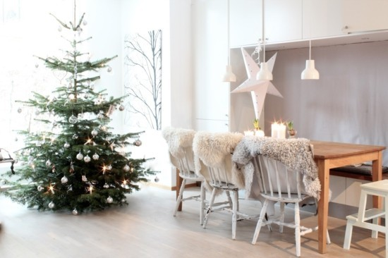 skandinavische weihnachtsdeko weihnachtsbaum tischdeko