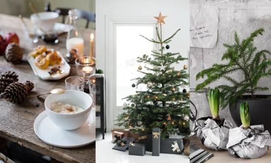 skandinavische weihnachtsdeko weihnachtsbrunch